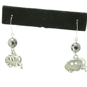 camper charm earrings