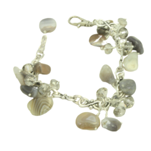Agate cluster necklace
