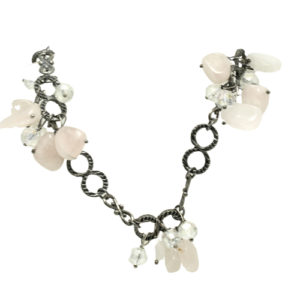 Oxidized Rose Quartz Necklace