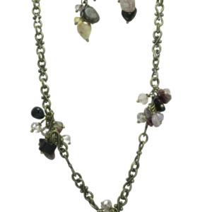 Tourmaline Gemstone Cluster Necklace