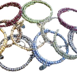Pearl stack bracelets