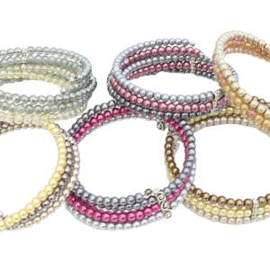 Assortment of pearl bracelets