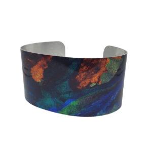 Deep Sea Blue Green Copper Bracelet