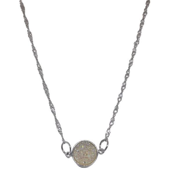 Dainty druzy necklace