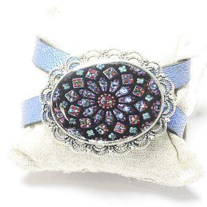 Stain glass wrap bracelet