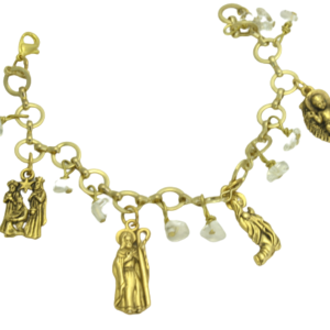 Gold Nativity bracelet