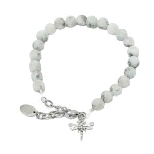 Lotus japer dragonfly bracelet